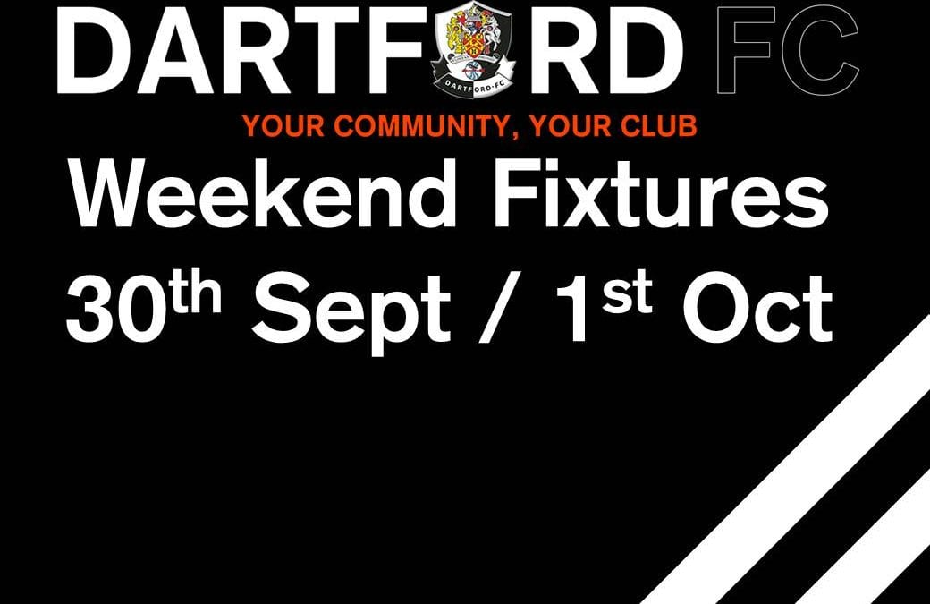Weekend Fixtures 30th Sept/1st Oct