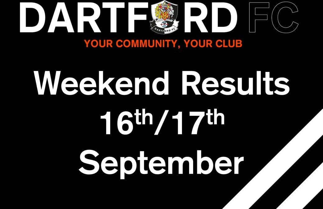 Weekend results 16th/17th September
