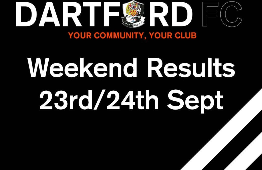 Weekend Results 23rd/24th Sept