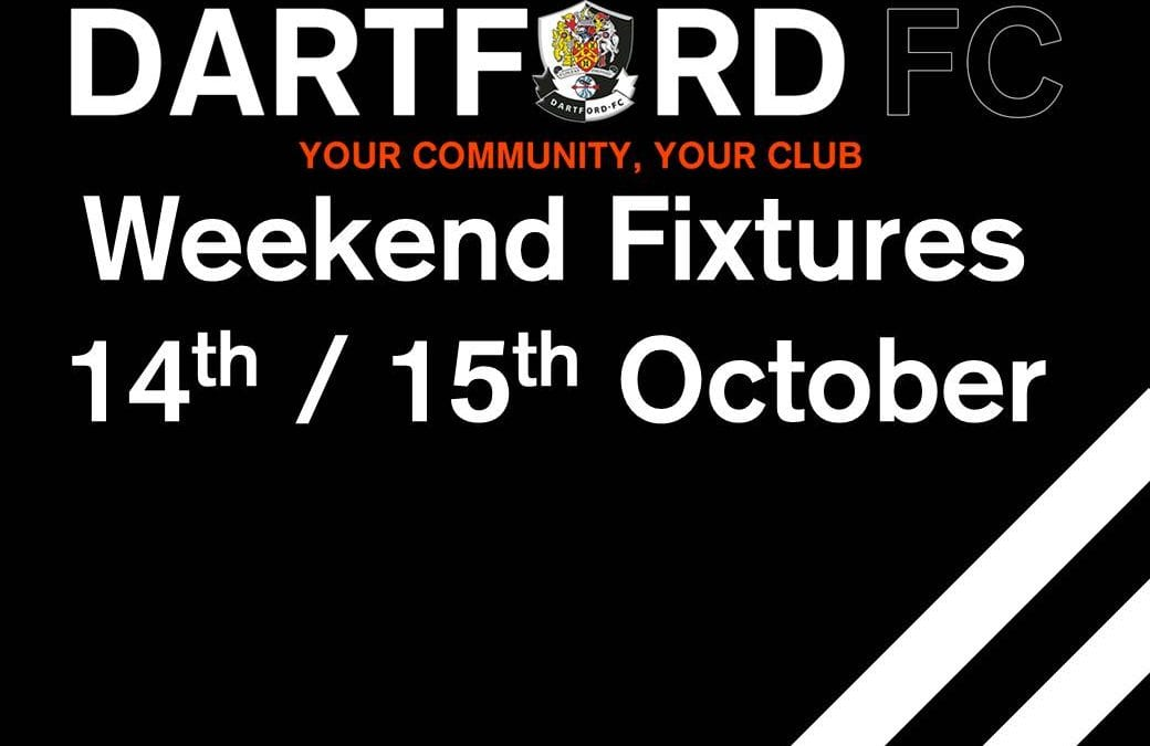 Weekend Fixtures – 14th / 15th October
