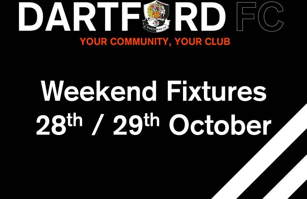 Weekend Fixtures 28th/29th October