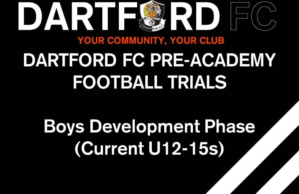 Dartford FC Pre-Academy (Current U12s – U15s)