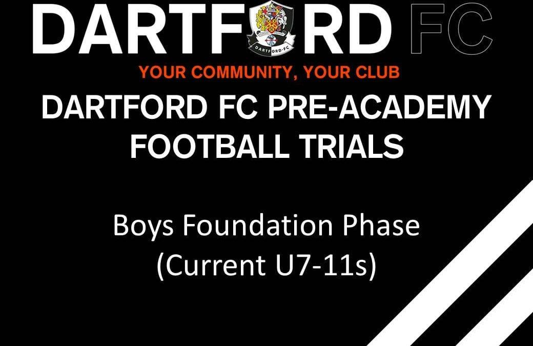 Dartford FC Pre-Academy (Current U7s-11s)
