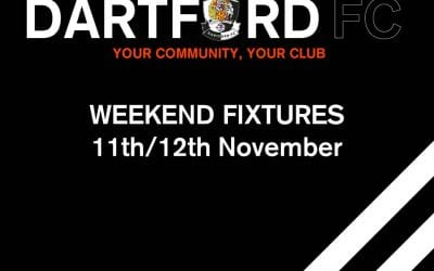 WEEKEND FIXTURES  11th/12th November