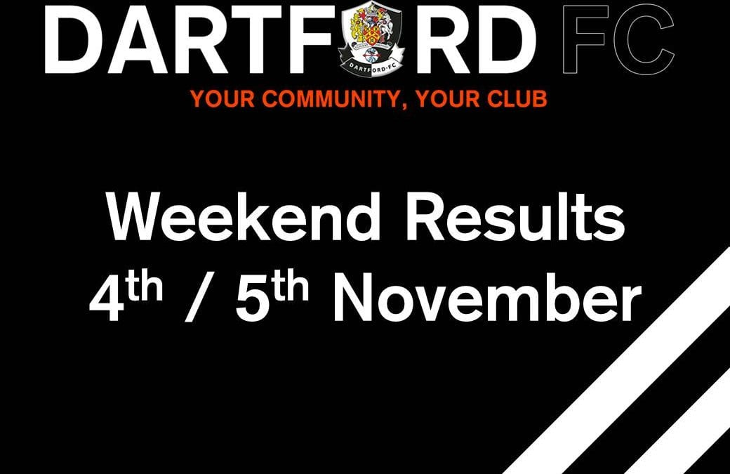 Weekend Results 4th/5th November