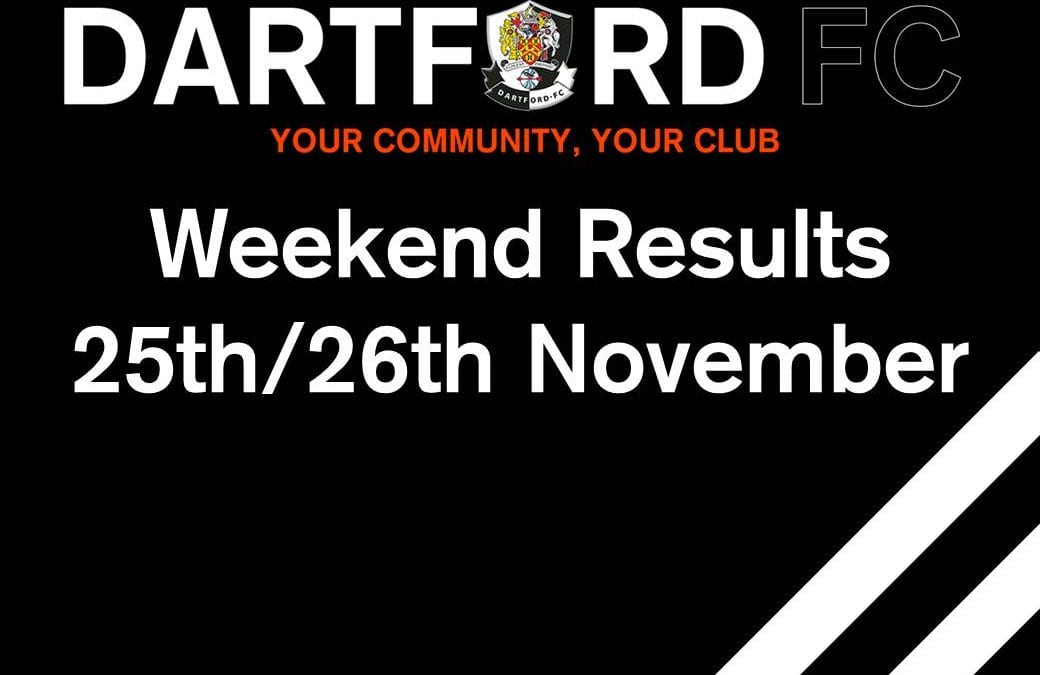 Weekend Results 25th/26th November