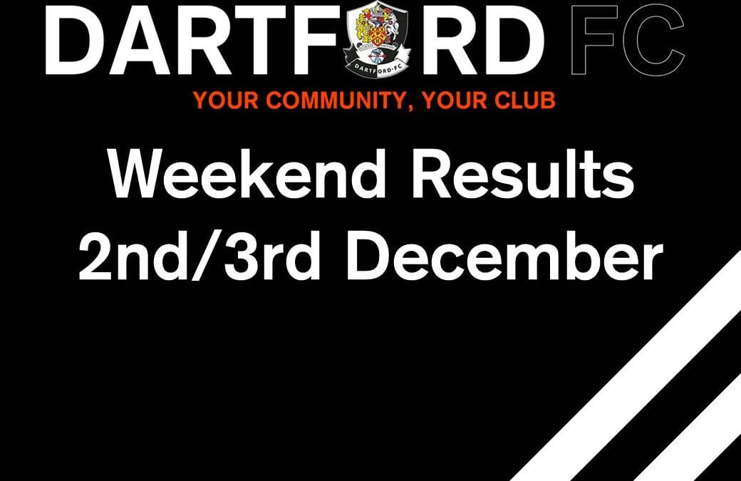 Weekend Results 2nd/3rd December