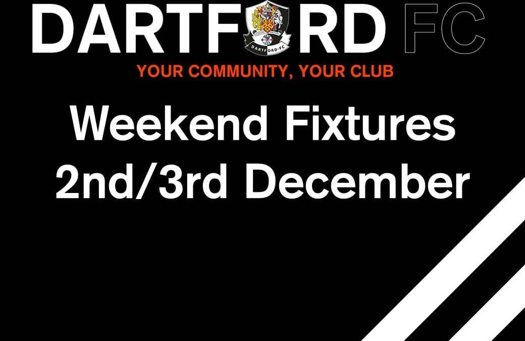 Weekend Fixtures 2nd/3rd December