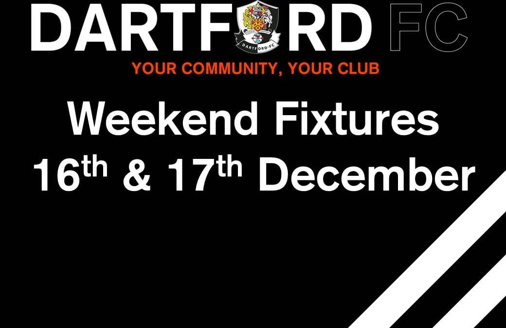 Weekend Fixtures 16th & 17th December