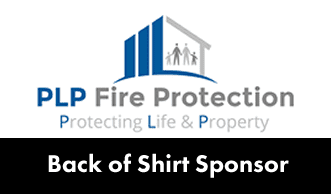 back of shirt sponsor = PLP Fire protection