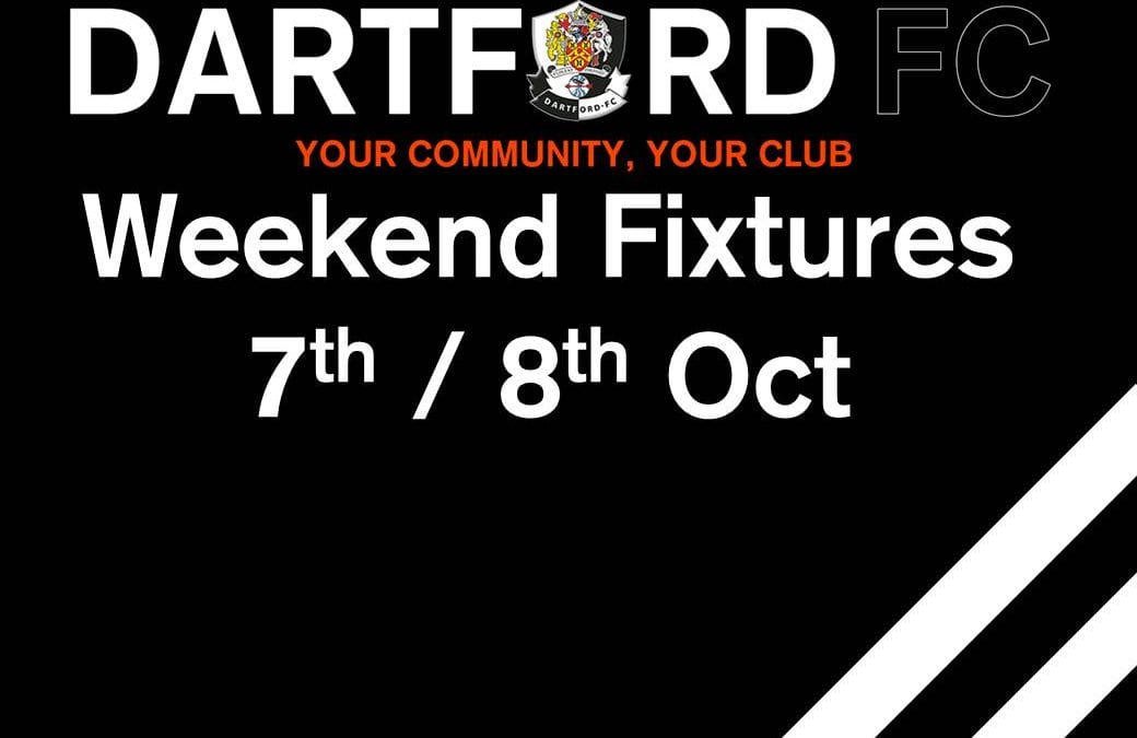 Weekend Fixtures 7th / 8th October