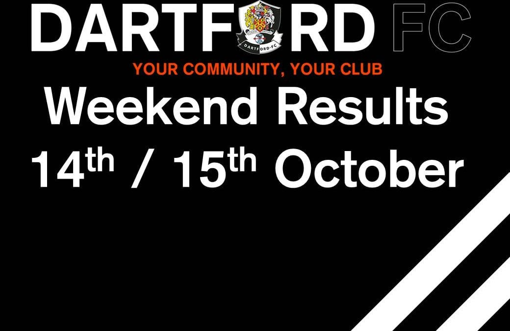Weekend Results 14th / 15th October