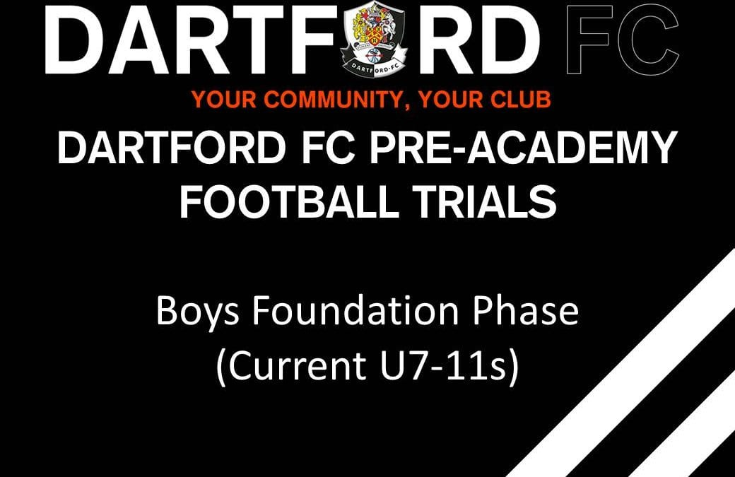 Dartford FC Pre-Academy (Current U7s-11s)