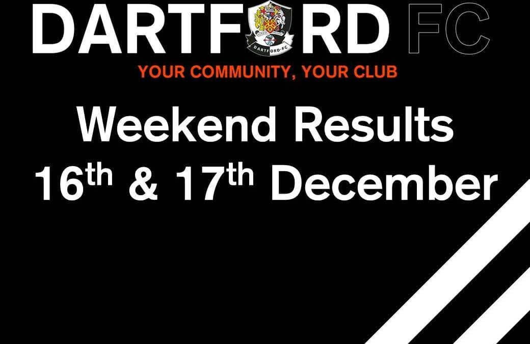 Weekend Results 16th & 17th December