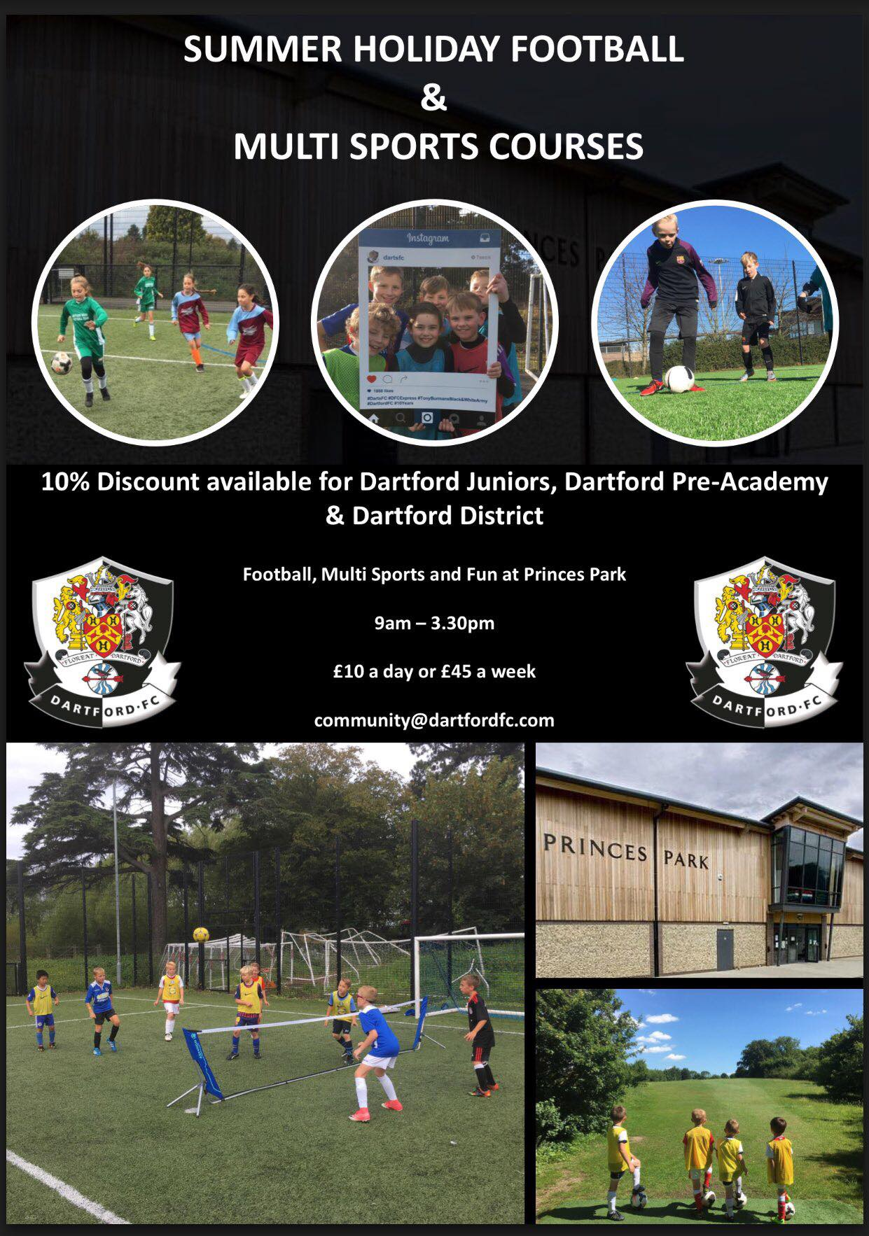 Dartford fc Holiday course