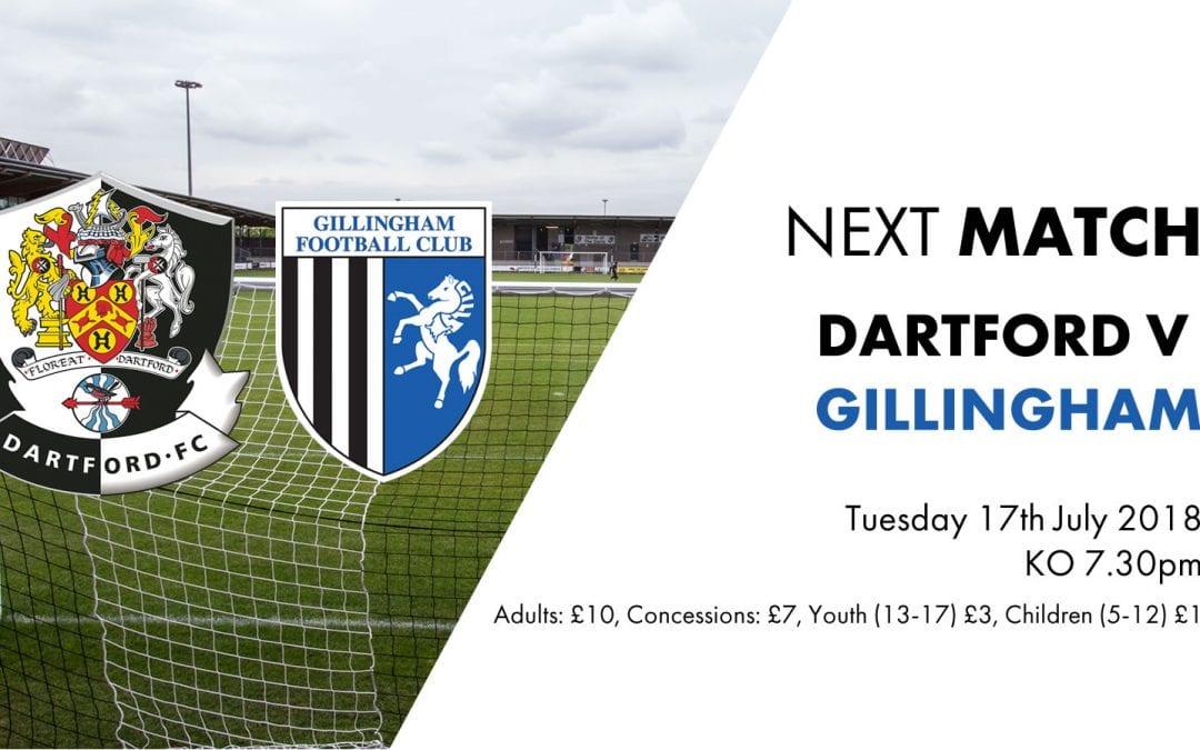 Match Information: Dartford v Gillingham