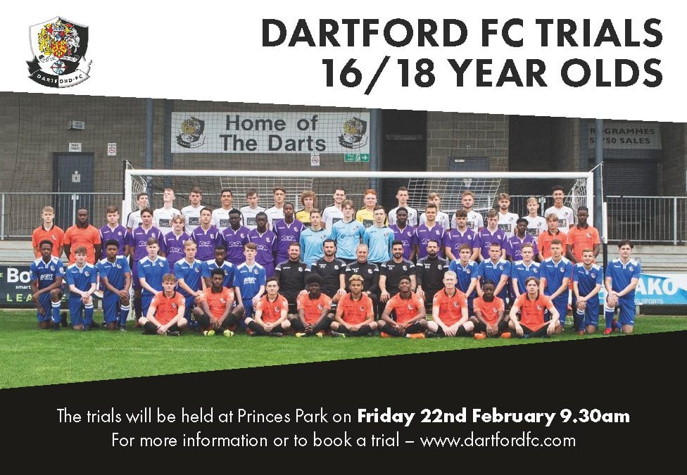 Dartford FC Academy Trials (16-18 years old)