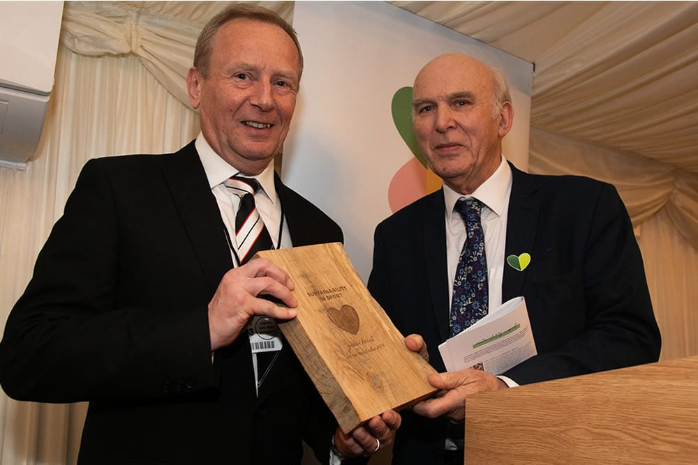 Dartford FC win national climate change award at Parliament