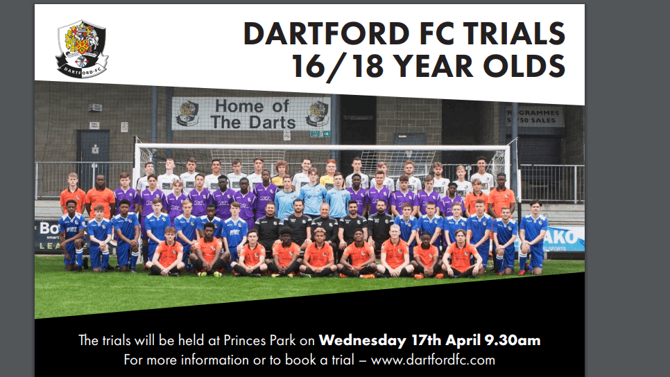 Academy Trials – Wednesday 17th April