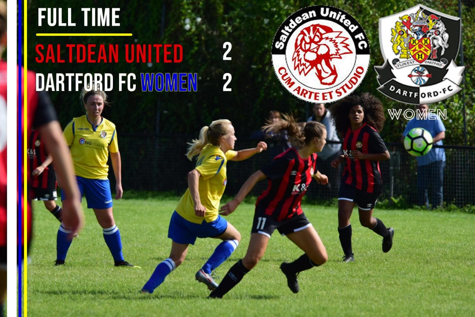 MATCH REPORT – Saltdean United 2 v 2 Dartford FC Women