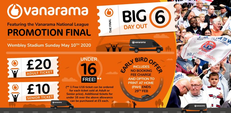 Vanarama Big Day Out 6 - A Special Early Bird Offer!